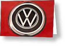 1965 Volkswagen Vw Karmann Ghia Emblem Greeting Card