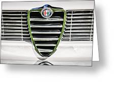 1966 Alfa Romeo Gtc Grille Emblem -1438c Greeting Card