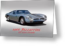 1966 Bizzarrini Gt 5300 Strada Greeting Card