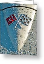 1966 Chevrolet Corvette Sting Ray Hood Emblem Greeting Card