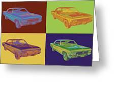 1966 Chevy Chevelle Ss 396 Car Pop Art Greeting Card