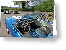 1966 Convertible Mustang On Tour In The Cotswolds Greeting Card