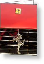 1966 Ferrari 330 Gtc Coupe Hood Ornament Greeting Card