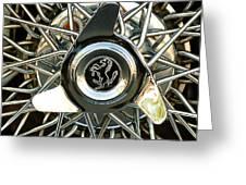 1966 Ferrari 330 Gtc Coupe Wheel Rim Emblem Greeting Card