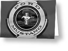 1966 Ford Mustang Shelby Gt 350 Emblem Gas Cap -0295bw Greeting Card