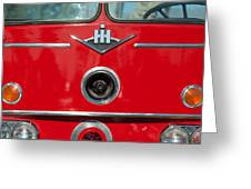 1966 International Harvester Pumping Ladder Fire Truck - 549 Ford Gas Motor Greeting Card