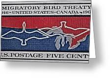 1966 Migratory Bird Treaty Stamp Greeting Card