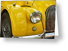 1966 Morgan Plus Four Front End Greeting Card