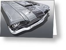 1966 Mustang Hood And Headlight Greeting Card