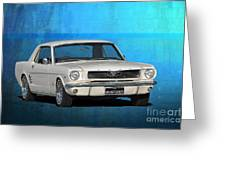 1966 Mustang Greeting Card