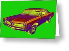 1966 Pointiac Lemans Car Pop Art Greeting Card