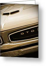 1966 Pontiac Gto In Sepia Greeting Card
