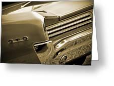 1966 Pontiac Gto Tail In Sepia Greeting Card