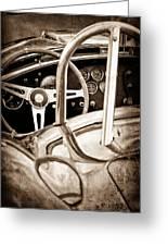 1966 Shelby 427 Cobra Steering Wheel Emblem Greeting Card