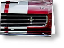 1966 Shelby Cobra Gt 350 Grille Emblem Greeting Card