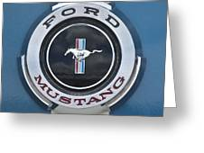 1966 Shelby Gt 350 Emblem Gas Cap Greeting Card