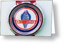 1966 Shelby Gt 350 Emblem Greeting Card