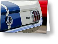 1966 Shelby Gt 350 Taillight Greeting Card