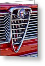 1967 Alfa Romeo Giulia Super Grille Emblem Greeting Card