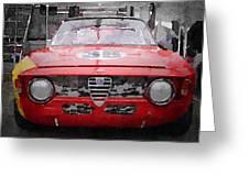 1967 Alfa Romeo Gtv Watercolor Greeting Card