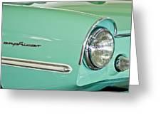 1967 Amphicar Model 770 Head Light Greeting Card