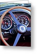 1967 Aston Martin Db6 Volante Steering Wheel 2 Greeting Card
