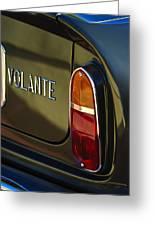 1967 Aston Martin Db6 Volante Tail Light Greeting Card