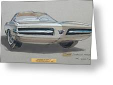 1967 Barracuda  Plymouth Vintage Styling Design Concept Rendering Sketch Fred Schimmel Greeting Card