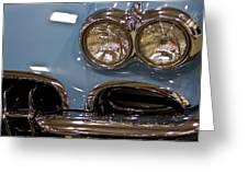 1967 Blue Corvette-front Left Greeting Card