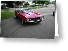 1967 Camaro Ragtop Greeting Card