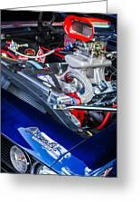 1967 Chevrolet Camaro Ss 350 Engine - Hood Emblem  Greeting Card