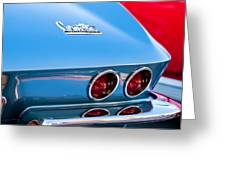 1967 Chevrolet Corvette Taillights Greeting Card
