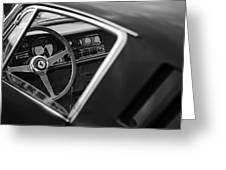 1967 Ferrari 275 Gtb-4 Berlinetta Steering Wheel Greeting Card by Jill Reger