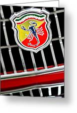 1967 Fiat Abarth 1000 Otr Emblem Greeting Card
