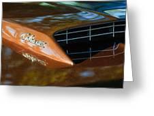 1967 Ford Mustang Cobra Jet Hood Emblem Greeting Card