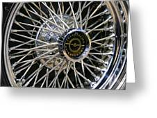 1967 Ford Thunderbird Wire Wheel Greeting Card