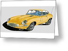 1967 Jaguar X K E Coupe Greeting Card