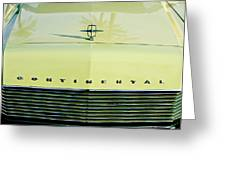 1967 Lincoln Continental Grille Emblem - Hood Ornament Greeting Card