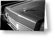 1967 Lincoln Continental Hood Ornament - Emblem -646bw Greeting Card
