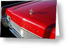 1967 Lincoln Continental Hood Ornament - Emblem -646c Greeting Card