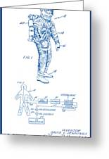 1967 Nasa Astronaut Ventilated Space Suit Patent Art 2 Greeting Card