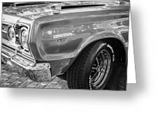 1967 Plymouth Belvedere Gtx 440 Painted Bw   Greeting Card