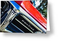 1967 Pontiac Firebird Grille Emblem Greeting Card