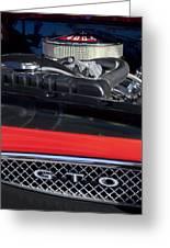 1967 Pontiac Gto Engine Emblem Greeting Card