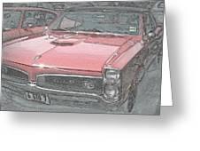 1967 Pontiac Gto Greeting Card