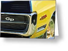 1967 Pontiac Hurst Grand Prix Convertible Grille Emblem -3569c Greeting Card