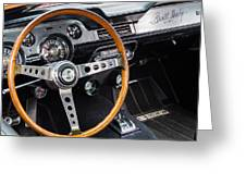 1967 Shelby Gt 350 Signed Dash Greeting Card
