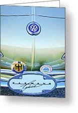 1967 Volkswagen Vw Karmann Ghia Hood Emblem Greeting Card