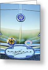1967 Volkswagen Vw Karmann Ghia Hood Emblem Greeting Card