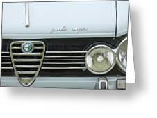 1968 Alfa Romeo Giulia Super Grille Greeting Card